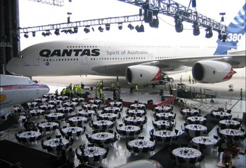 Podium Business Events for Qantas