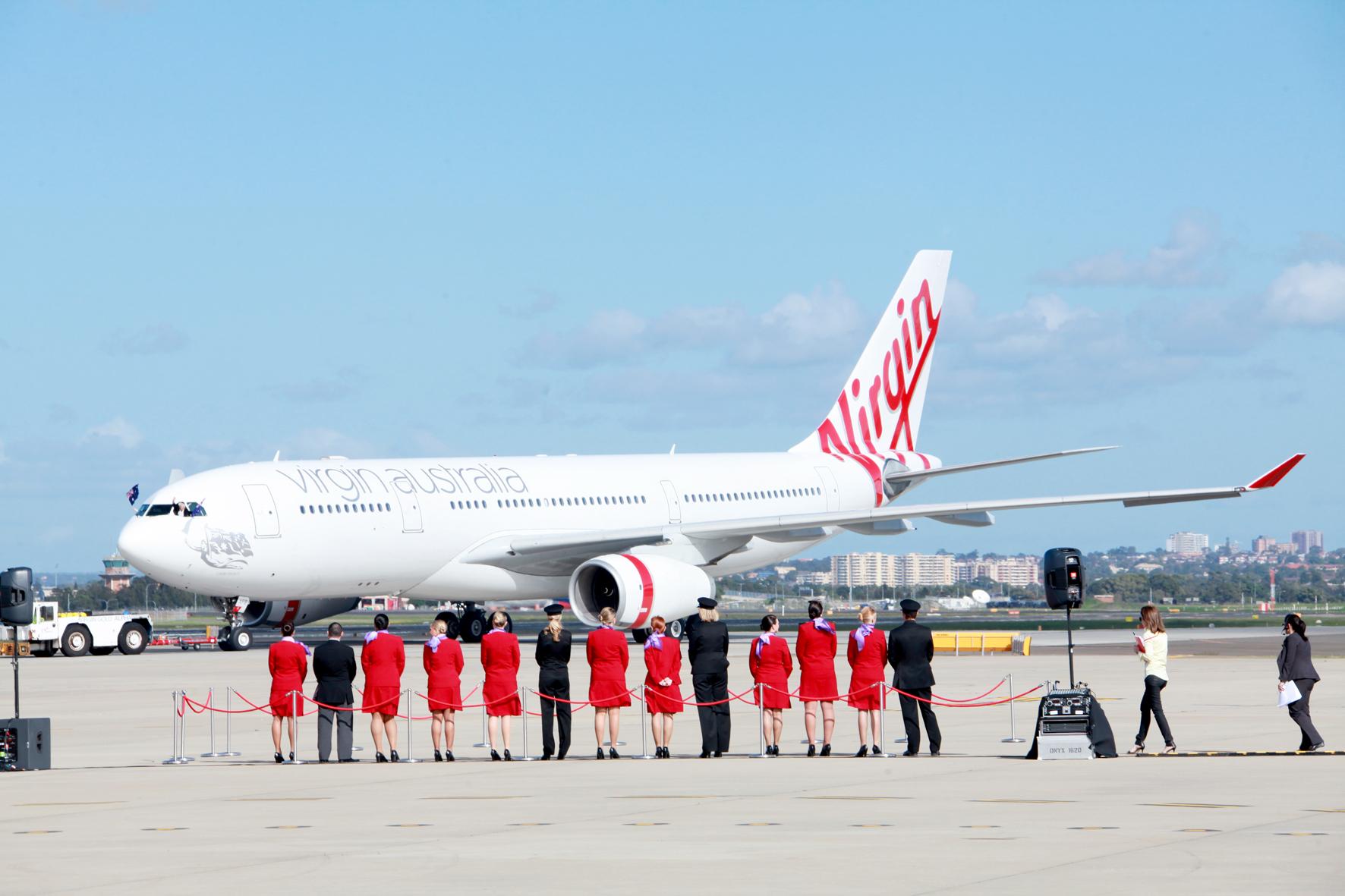 Podium Business Events for Virgin Australia